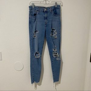 Levis 721 ripped jeans